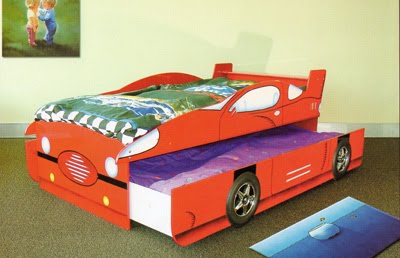 Girls   Trundle on Enzo Racing Car Bed With Trundle