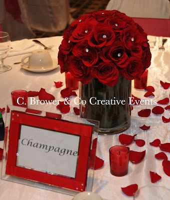 The World Sports Cars Wedding Roses Centerpieces