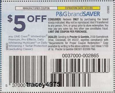 Crest printable coupons