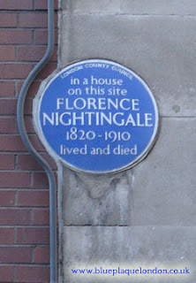 Blue Plaque of Florence Nightingale