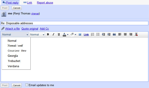 Google Groups Post Editor