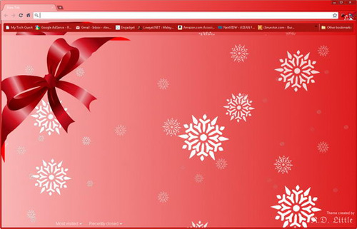 Simply Red Christmas Google Chrome Theme