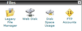 Files Section in CPanel