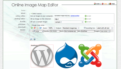 Online Image Map Editor