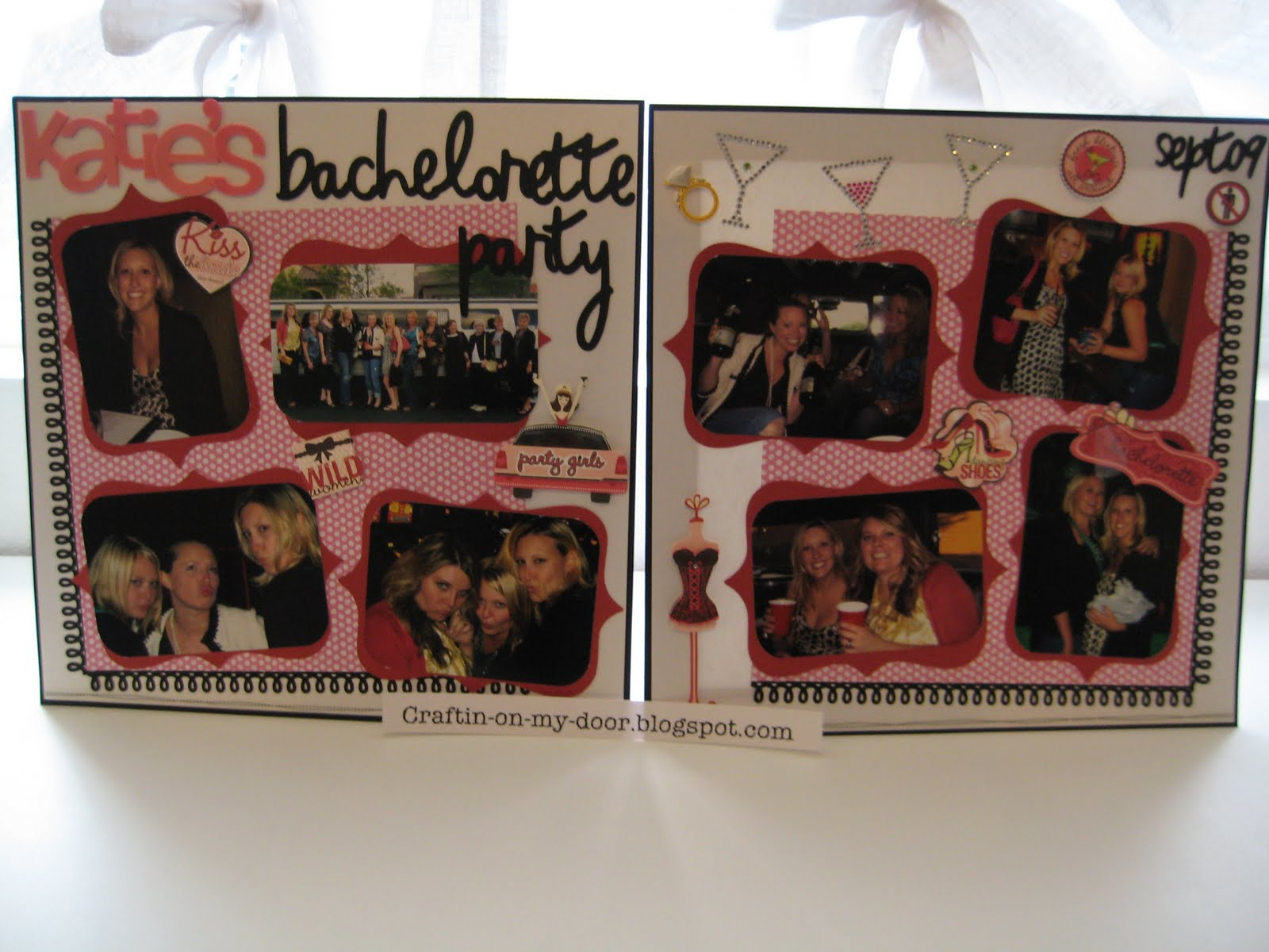 Scrapbook ideas black background -  The Background Paper Sparkly White From Recollections The Riding Hood Red And Black Are From Stampin Up Pink Polka Dot Me And My Big Idea Which Were