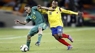 Sudafrica vencio a Colombia