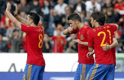 España vencio a Arabia Saudi