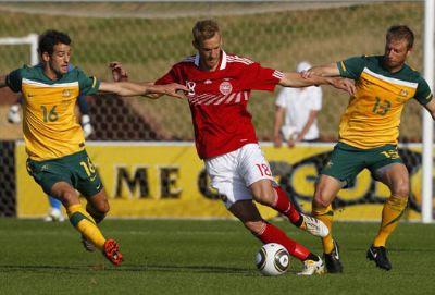 Australia vencio a Dinamarca