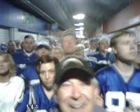 Dejected Colt fans leaving RCA Dome after Colts lose to Chargers in playoffs