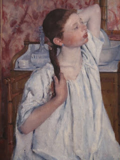 Mary Cassatt, Girl Arranging Her Hair (1886), National Gallery of Art