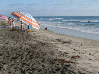 Summer day at Stone Steps Beach, Leucadia