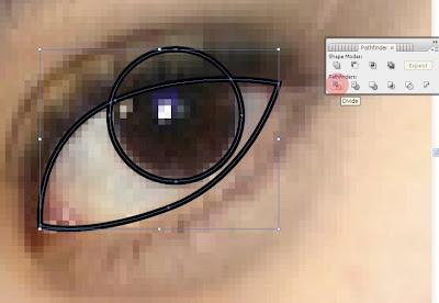 Gambar Vector Wajah di Illustrator