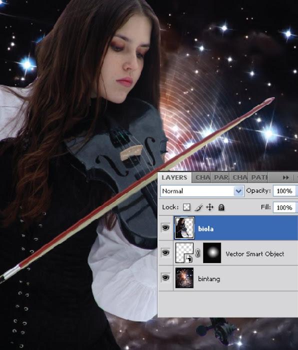 Komposisi Gambar Sederhana dalam Membuat Karya Digital di Photoshop