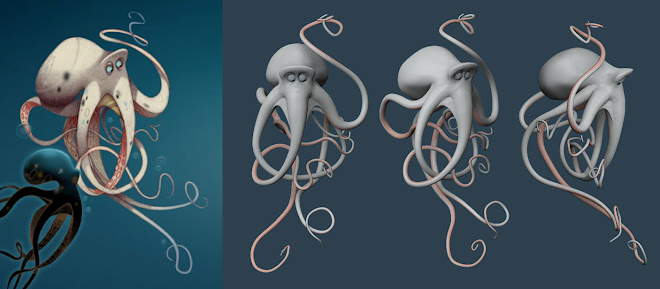 OCTOPUS SCULPTURE by Michael Defeo :