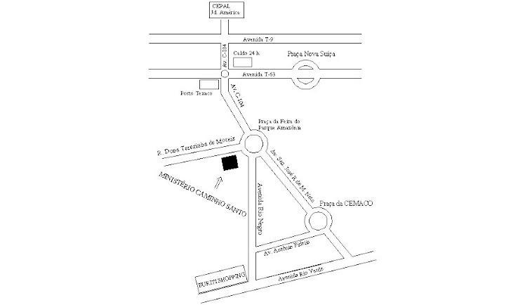 Mapa Ministério Caminho Santo