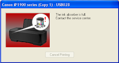 How to Reset Canon ip1980 and IP1880