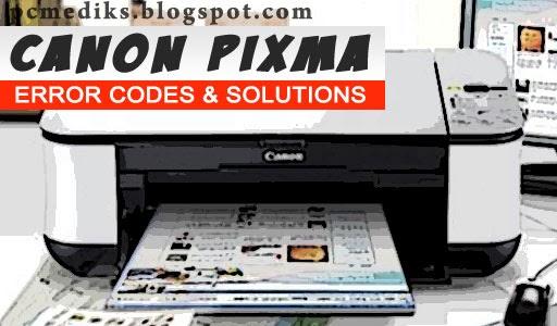 Canon Pixma Error Codes and Solution   PC Mediks