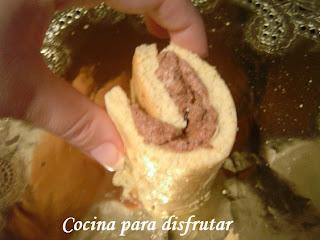 PASTEL EN ESPIRAL DE NATA, TRUFA Y YEMA