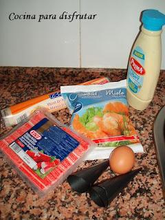 receta CONOS DE APERITIVO