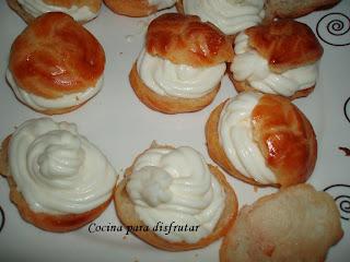 receta LIONESAS DE NATA Y TRUFA