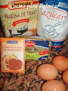 receta MADEIRA SPONGE CAKE DE CHOCOLATE Y COCO