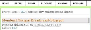 Breadcrumb Navigaton Bang Del