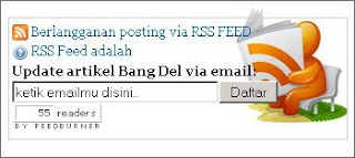 membuat form langganan  feedburner lewat e-mail