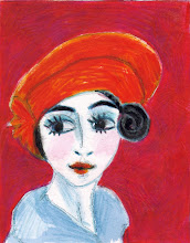 """Mr van Dongen's Lovely Red Hat - a tribute"" (SOLD)"