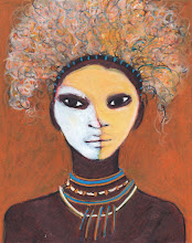 The Beautiful Painted African Woman