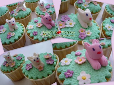 easter cupcakes fondant. easter basket cupcakes it