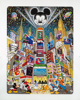Disney Pop Art, Pop Art,  Charles Fazzino, Charles Fazzino 3-D Disney Pop Art