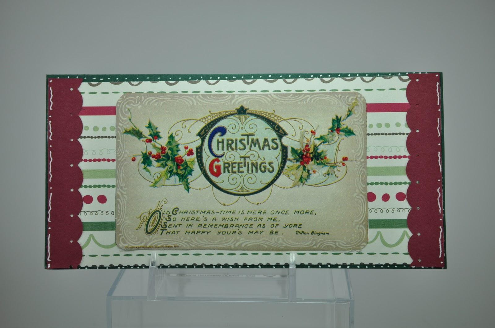 Victoria Scraps: Christmas Money Card Holder