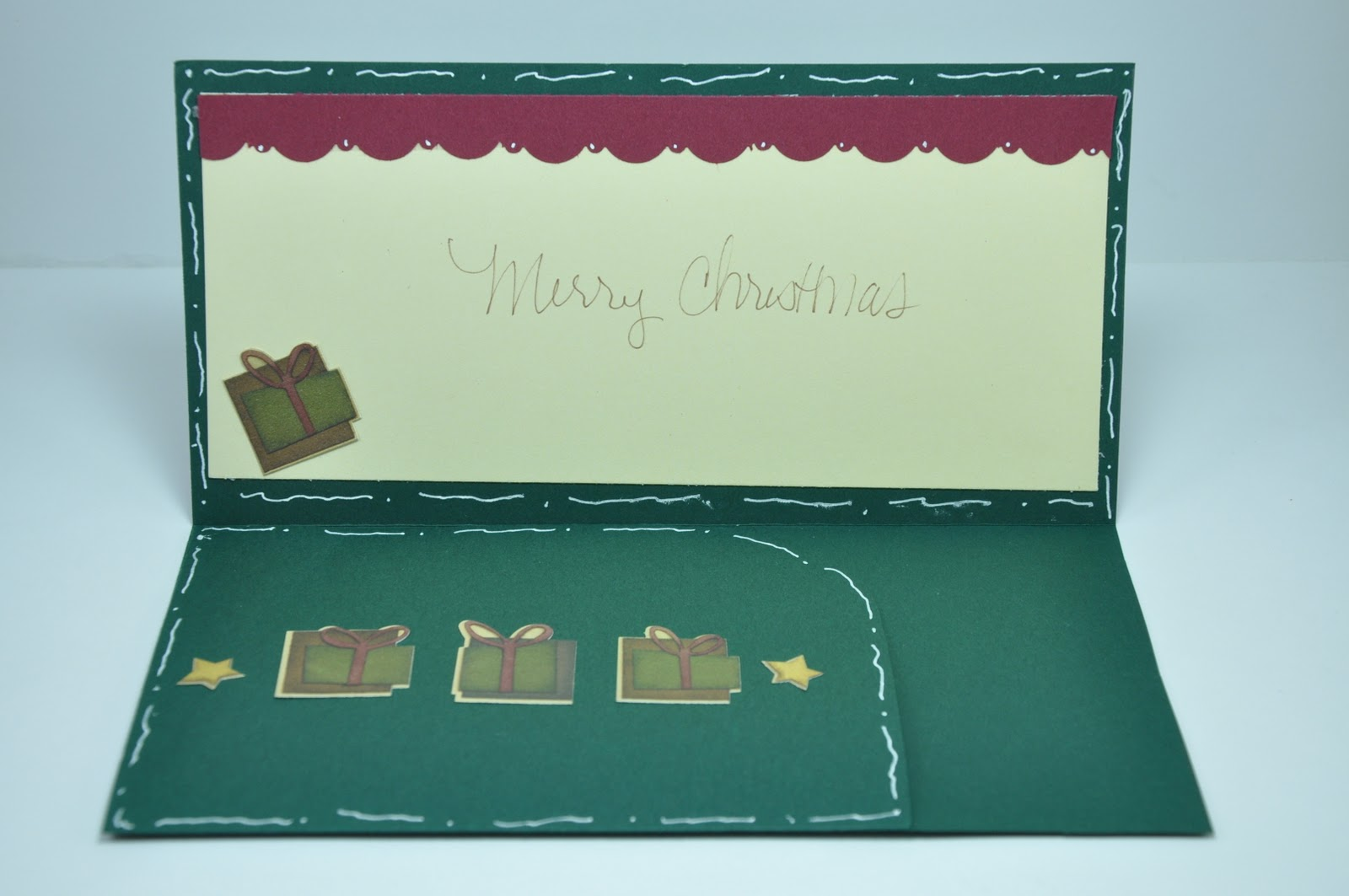 Victoria Scraps: Christmas Money Card Holder