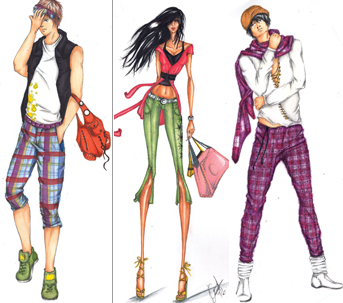 Dise o de modas y la matematicas for Dibujos de disenos de moda