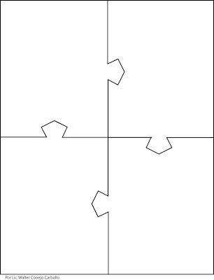 Rompecabezas de cuatro piezas