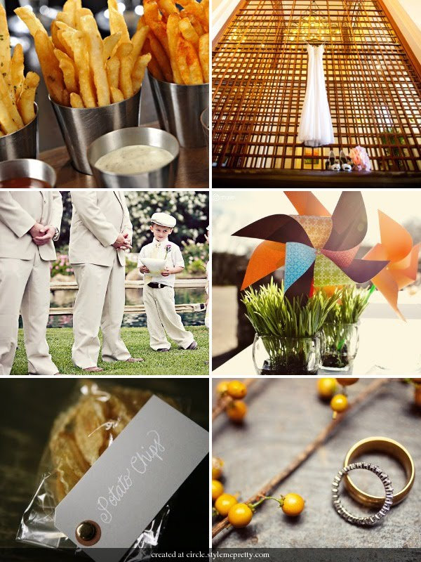 When using your favourite foods as wedding inspiration think colour