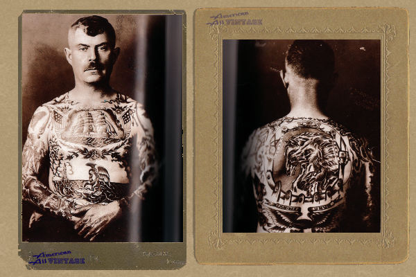 Taschen book 1000 Tattoos, a thick resource of old school tattoo photos.