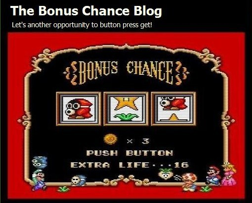 The Bonus Chance Blog
