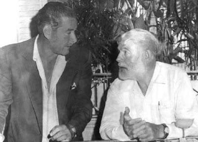 Ernest Hemingway drinking