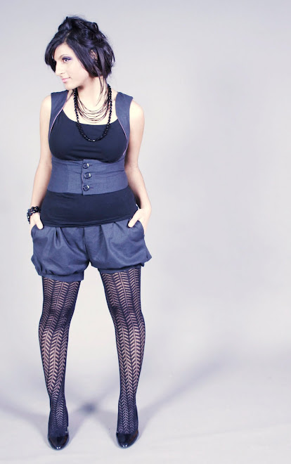 Corset Vest and Bubble Shorts