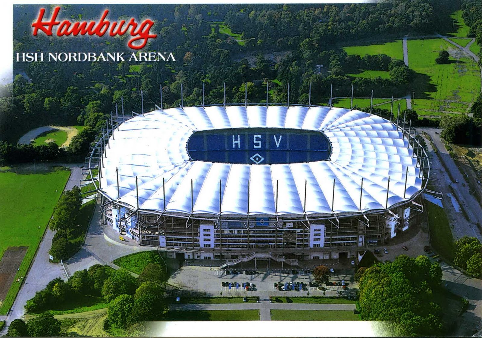 each postcard has its own history hsh nordbank arena actually imtec arena. Black Bedroom Furniture Sets. Home Design Ideas