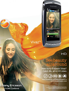 Kareena Kapoor Latest Sony Ericson Vivaz HD Mobile Ad