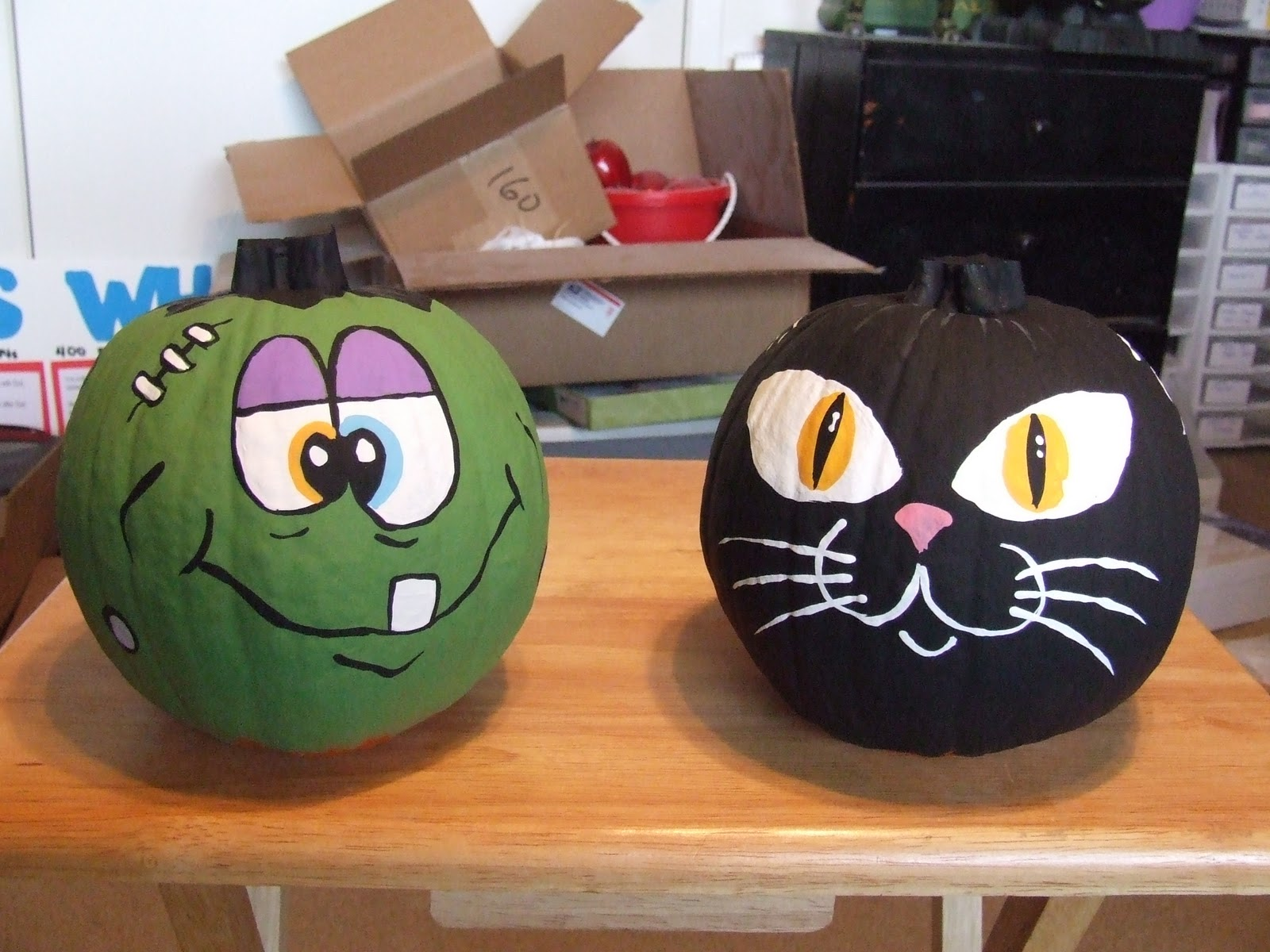 Jean 39 s crafty corner day 14 of halloween projects - Cute pumpkin painting ideas ...