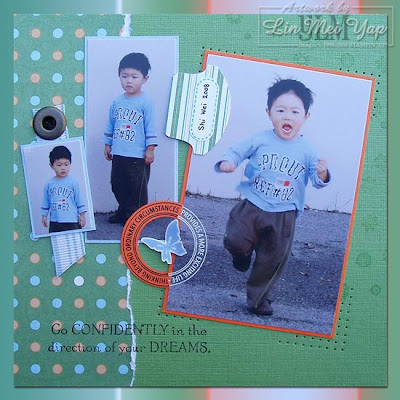 Scrap Page of Shi Wei Using Stampin' Up!
