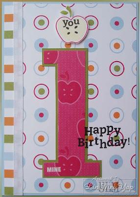Card made using Stampin' Up! Spring Mini supplies