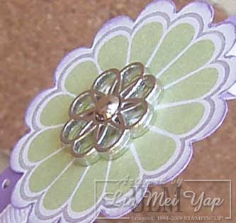 Close Up of Stampin' Up! Filigree Designer Brad