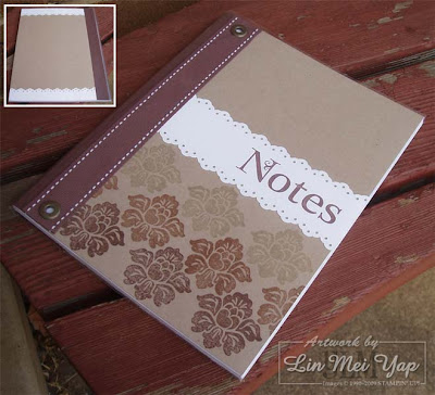 Notebook made using Stampin' Up! supplies