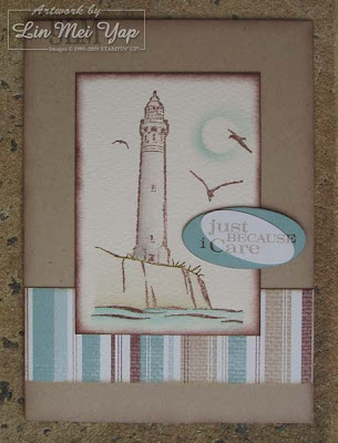Masculine card using Stampin' Up! supplies