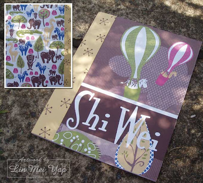 Notebook for Shi Wei using Stampin' Up! Tall Tales DSP