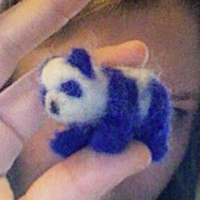 tiny felt panda bear